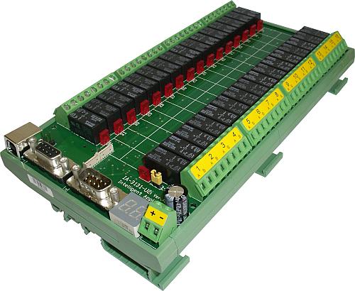 IA-3131-U2i - 32 USB Relays Controller USB and RS-232